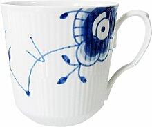 Mega Blau Gerippt Café Latte Becher 46 Cl