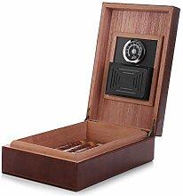 MEGACRA cedar zigarren-humidor, leder
