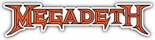 Megadeth Music Slogan Logo - Self-Adhesive Sticker
