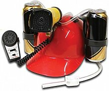 Megafon Trinkhelm - Mikrofon Saufhelm Megaphone Helm mit Getränkehalter JGA Bierhelm