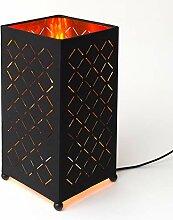 MEGALight LED Tischleuchte Shining Flame eckig