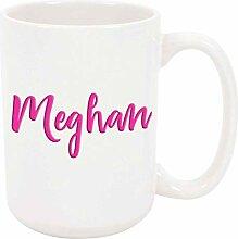 Meghan 11oz Kaffee oder Teebecher Weiß Keramik
