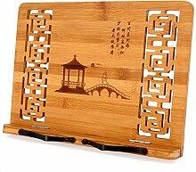 MEGREZ Bambus Faltbarer Buchständer (33,5 x 23,9
