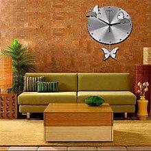 MEHE HOME-16 Zoll Moderne minimalistische Flatternde Schmetterling Quarz-Wanduhr
