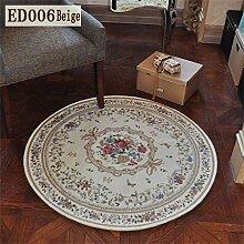 MEHE HOME-amerikanischen Teppich Runder / quadratischer Teppich Computer Stuhl Wohnzimmer Europäischen Süße Pastoral Schlafzimmer Teppich