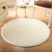 MEHE HOME- Einfache, moderne Runde Teppiche Wohnzimmer Schlafzimmer Suede Tuchkunst Teppich