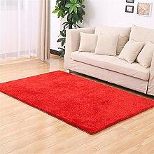 MEHE HOME- Einfache, moderne verdickte Korean Silk Teppich Wohnzimmer Schlafzimmer Bettvorleger