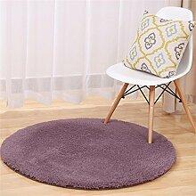 MEHE HOME- Lammfell Runde Teppiche Yoga Teppich Schlafzimmer Wohnzimmer Bettvorleger