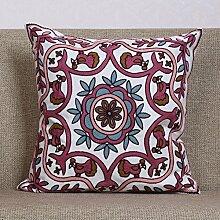 Mehr Farbe Garten Wind schöne Sofa Kissen Pflanze Blumen Baumwolle Kissen Stoff-Kissen-G 45x45cm(18x18inch)VersionA