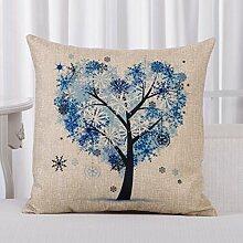 mehr Farbe Sofakissen Garten Wind-Auto-Kissen Pflanze Baum des Lebens Gürtel Kissen-B 45x45cm(18x18inch)VersionB