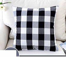 Mehr Farben/Einfache Plaid Kissen/PP Baumwoll-Kissen/Sofa-Bett Umarmung Kissenbezug-B 55x55cm(22x22inch)VersionA