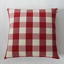 Mehr Farben/Einfache Plaid Kissen/Sofa-Bett halten Baumwolle Kissenbezug-N 50x50cm(20x20inch)