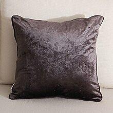 Mehr Farben/European-Style einfachen einfarbigen Kissen/Sofa-Bett Umarmung Kissenbezug-C 45x45cm(18x18inch)VersionA