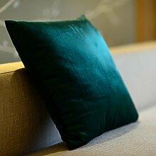 Mehr Farben/Italien Kaschmir Umarmung Kissenbezug/ einfachen einfarbigen Kissen/Sofa-Bett Umarmung Kissenbezug-H 45x45cm(18x18inch)VersionA