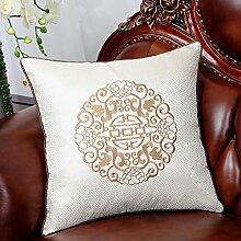 Mehr Farben/Moderne chinesische Stickerei Kissen/Satin-Kissen/Sofa-Bett Umarmung Kissenbezug-I 50x50cm(20x20inch)VersionA