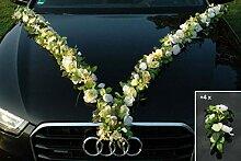 MEHRBLUTIGE Girlande Braut Paar Rose Orchidee