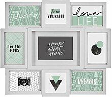 Mehrfach-Bilderrahmen für die Wand - für maximal