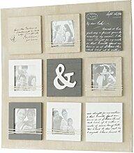 Mehrfach-Bilderrahmen quadratisch aus Paulownia