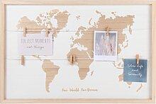 Mehrfach-Bilderrahmen Weltkarte 60x40