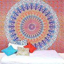 Mehrfarben Mandala Tapisserie Wand Kunst Hangings Hippie Wandteppiche Dorm Decor