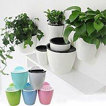 Mehrfarbig Creative selbstwässernde Blumentopf zum Aufhängen, automatischen Bewässerung, Blumentopf, Wand montiert Pflanzen Halter w/Store Wasser Funktion
