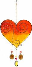 Mehrfarbig Herzform hängen Suncatcher mit Perlen-Home und Garden Ornamen