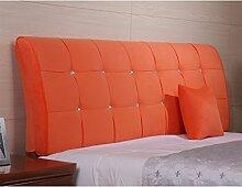 Mehrfarbige Doppelbett bequeme Sofa-Kissen ( Farbe : Orange , größe : 120*62cm )