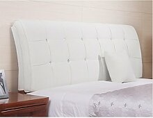 Mehrfarbige Doppelbett bequeme Sofa-Kissen ( Farbe : Weiß , größe : 120*62cm )
