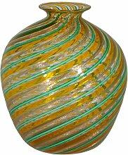 Mehrfarbige Vintage Vase aus Murano Glas von