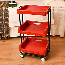Mehrfarbiger Beauty Trolley Cart 3-stufiger
