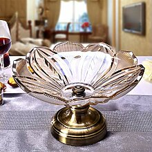 Mehrschichtige Obstschale Obst Kampf Glas