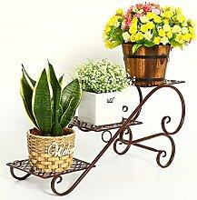 Mehrstöckiger Balkon Pflanzen Blumen Regal Scindapsus Europäische Indoor Blumentopf Regal ( Farbe : Braun , form : B* )
