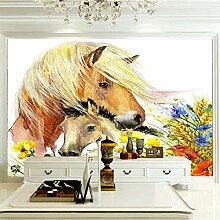 Mehrteilige Wandbilder 350×256 cm -Tiergelbes