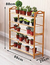 Mehrzweck-Blumenregale Nanzhu Massivholz Mehrstöckiges Wohnzimmer Fleisch Pflanze Blumenständer Büro Balkon Blumenständer Für innen und außen ( Farbe : 4 , größe : 88*25cm )
