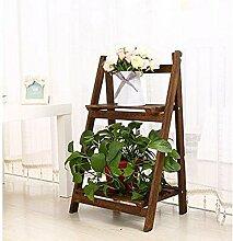 Mehrzweck-Blumenregale Weiß Mehrstöckige Blumenständer Massivholz Wohnzimmer Balkon Eingemachtes kleines Regal Indoor Pflanze Blumenregal (blau, orange, weiß, Farbe) Für innen und außen