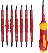 Mehrzweck Schraubenzieher-Werkzeuge - TOOGOO(R)7 PCS Mehrzweck Electrican IsolierLunchies Elektrohandschrauber Werkzeug-Satz