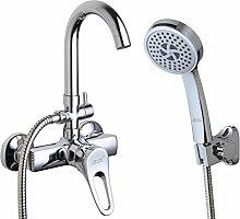 Mehrzweck-Wanne Badezimmerdusche Mixer/Unterputz-Thermostat Armatur heiß und kalt/Dusche Schlauch Dusche-B