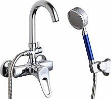 Mehrzweck-Wanne Badezimmerdusche Mixer/Unterputz-Thermostat Armatur heiß und kalt/Dusche Schlauch Dusche-A