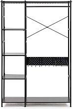 Mehrzweckregal in Schwarz Stahl 120 cm breit