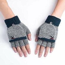 MEIDUO Handschuhe & Fäustlinge Handschuhe Herren Halbfinger Herbst und Winter Studenten schreiben stricken 5 Farben erhältlich Beste Geschenke ( Farbe : Grau )