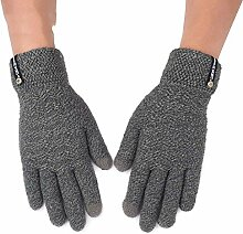 MEIDUO Handschuhe & Fäustlinge Handschuhe Männer Outdoor Reiten Warme Winter Touchscreen Kompatibel Vollfinger 5 Farben Optional Beste Geschenke ( Farbe : Grau )