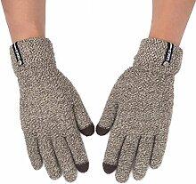 MEIDUO Handschuhe & Fäustlinge Handschuhe Männer Outdoor Reiten Warme Winter Touchscreen Kompatibel Vollfinger 5 Farben Optional Beste Geschenke ( Farbe : Khaki )