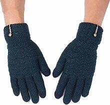 MEIDUO Handschuhe & Fäustlinge Handschuhe Männer Outdoor Reiten Warme Winter Touchscreen Kompatibel Vollfinger 5 Farben Optional Beste Geschenke ( Farbe : Dunkelgrün )