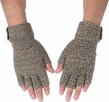 MEIDUO Handschuhe & Fäustlinge Herrenhandschuhe Herbst und Winter warm halten Student Writing Half Finger Beste Geschenke ( Farbe : Khaki )