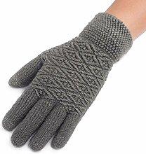 MEIDUO Handschuhe & Fäustlinge Männer Handschuhe warme Winter Reiten stricken Touch Screen volle Finger für Schüler Beste Geschenke ( Farbe : Grau )