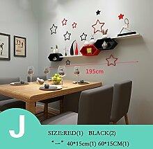 MEIDUO Wand-Dekor Kreative Gitterfarben Wandregale