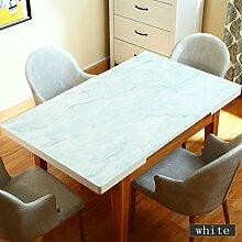 MEIE QIG Anti-Heiße Tischdecke, Wasserdichtes Plastik ölbeständiges Kristallplatte Kreatives Marmormuster Weiches Glas Retro- Rechtecktischdecke Länge 60-120CM (Farbe : C, Größe : 80*120cm)