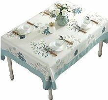 MEIE QIG Blätter Tischdecke, Tuch Kunst Kreative Blumen Restaurant Tischdecke Esstisch Druck Tischdecke Blatt Wohnzimmer Tischdecke 140-220 CM (größe : 120*120CM)