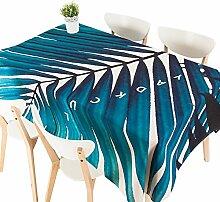 MEIE QIG Blatt Tischdecke, Pflanze Kreatives Drucken Restaurant Tischdecke Konferenzzimmer Blumen Wohnzimmer Blending Tischdecke Länge 80-240 CM (Farbe : A, größe : 140*180CM)