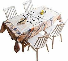 MEIE QIG Blumen Tischdecke, Drucken Reine Farbe Wohnzimmer Tischdecke Kreative Restaurant Esstisch Tischdecke Tuch Kunst Pflanze Tischdecke 85-240 CM (Farbe : A, größe : 100*140CM)
